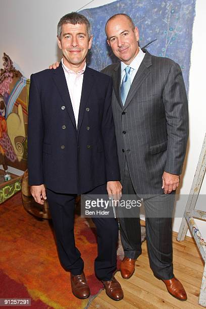 Anthropologie buyeratlarge Keith Johnson and CEO of Urban Outfitters Glen Senk attend the Sundance Channel and Anthropologie premiere of Man Shops...