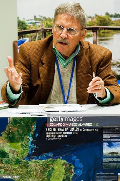 Anthropologist Mac Chapin speaks during a press conference about the new high Indigenous tech map on May 12 at the United Nations Headquarters in New...