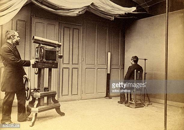 Anthropometric system of Alphonse Bertillon The photographic studio of the Pr��f��cture de Police of Paris In 1894