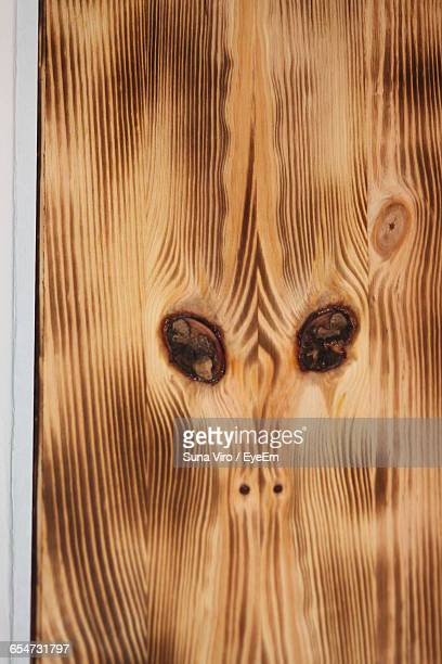 Anthropomorphic Face On Wood