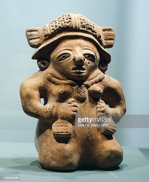 Anthropomorphic figure terracotta filled mold height 225cm width 17cm thickness 11cm Originating from the Valley of Sula Mayan Civilization classical...