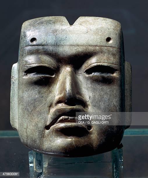 Anthropomorphic mask Olmec civilisation Mexico City Museo Del Templo Mayor