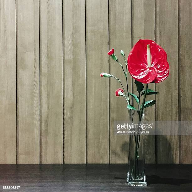 Anthurium In Vase On Table