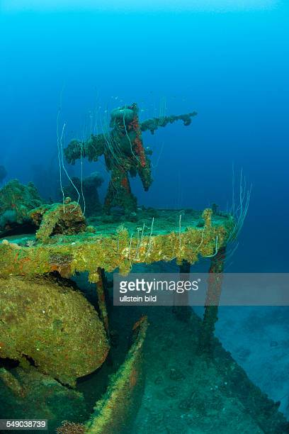 Anti Aircraft Machine Gun at Destroyer USS Lamson, Marshall Islands, Bikini Atoll, Micronesia, Pacific Ocean