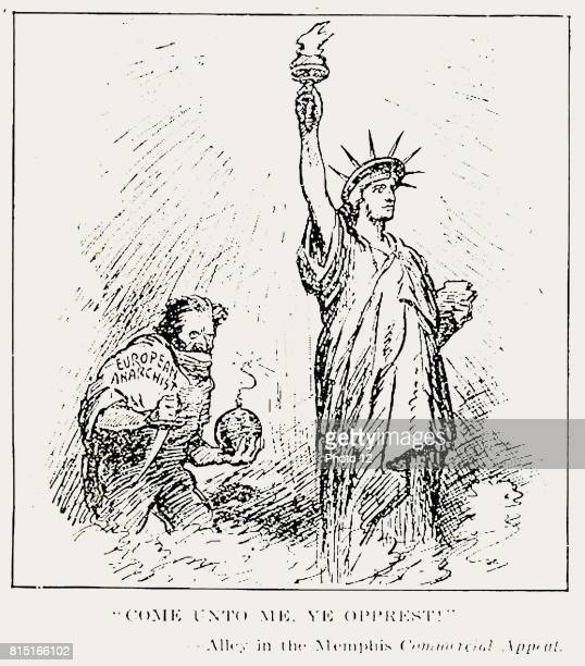 Anti Bolshevik Political Cartoon published in the Literary Digest USA July 5 1919