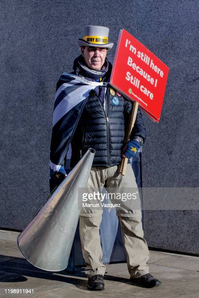 Anti Brexit campaigner Steve Bray is photographed for Liberation on January 29 2020 in London England