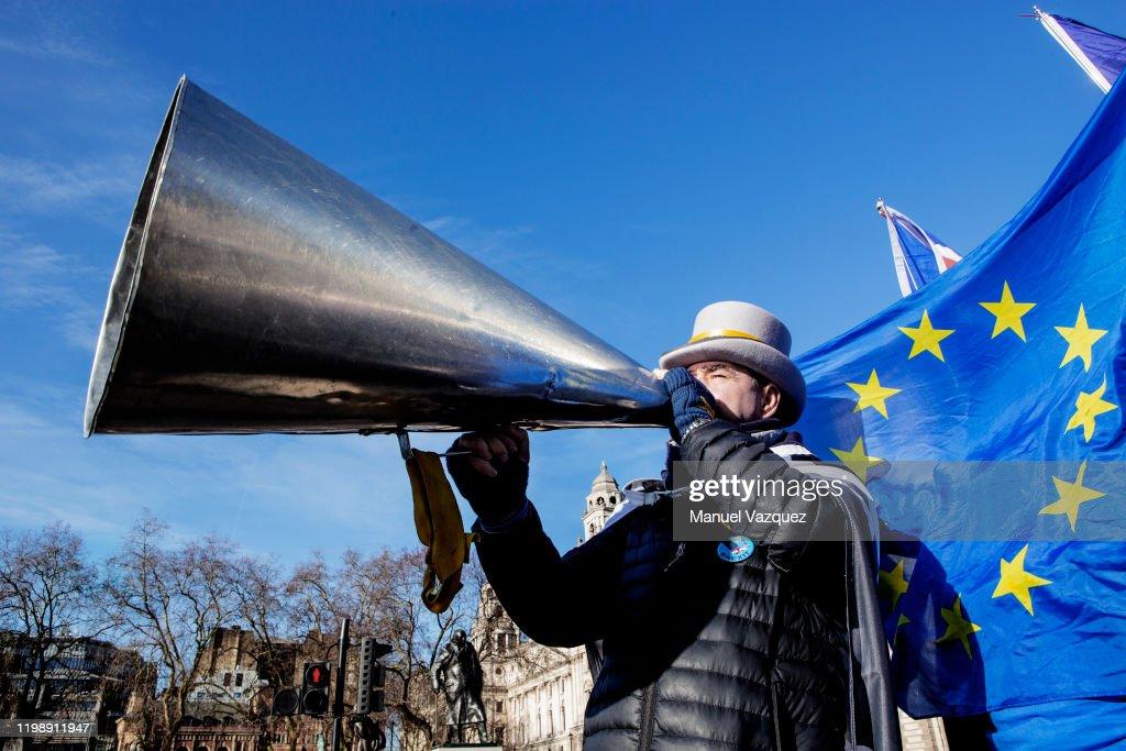 Steve Bray, Liberation France, January 30, 2020 : News Photo
