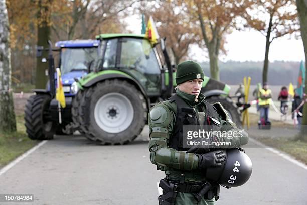 Anti Castor demonstration and arrival of the Castor Transporter in Dannenberg