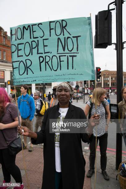 Anti Gentrification protest outside Lambeth Town Hall on 13th July 2015 in South London United Kingdom Cressingham Gardens is a council garden estate...