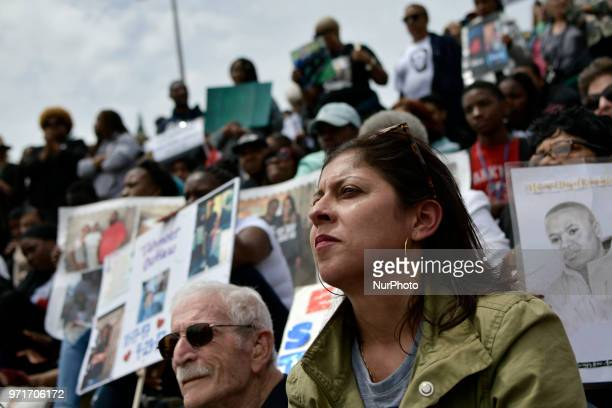 Anti gun violence rally on the Art Museum steps in Philadelphia PA on June 11 2018 The 3rd annual Fill the Steps Against Gun Violence gathering is to...