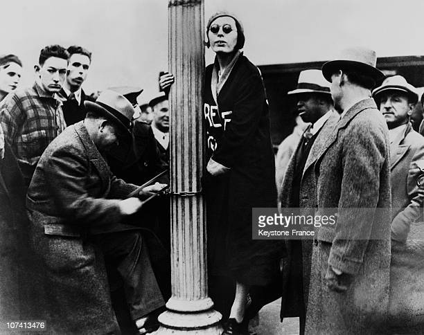 Anti Hitler Demonstration Ahead Of The German Consulate In New York On December 1933