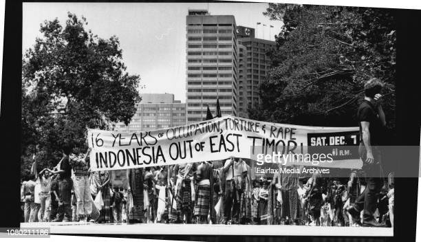 Anti Indonesia demonstration against the take over of East Timor Taken in the city November 07 1991
