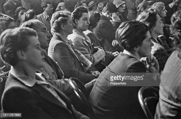 Anti Nazi German nationals take part in a meeting with the aim of forming a Free Germany Movement at Trinity Church Hall in Finchley Road, London...