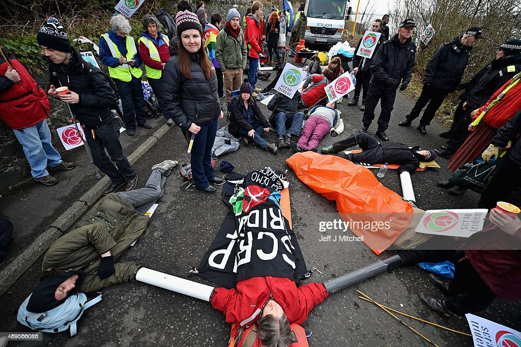 Political Protest At Faslane Naval Base : News Photo