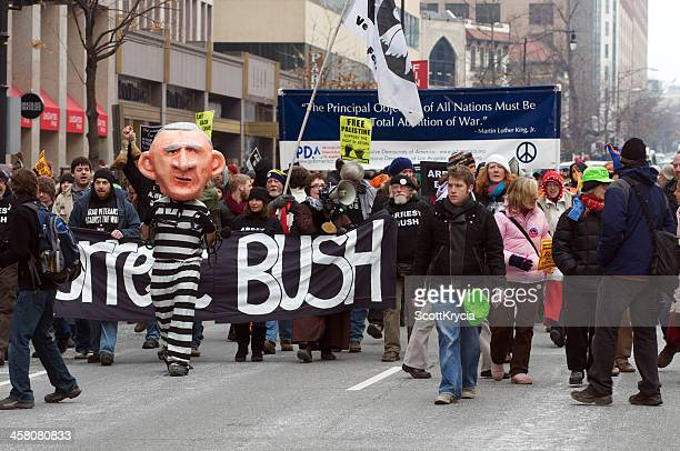 anti protest march - anti obama stock pictures, royalty-free photos & images