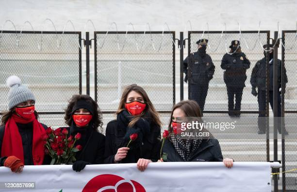 """Anti-abortion activists participate in the """"March for Life,"""" an annual event to mark the anniversary of the 1973 Supreme Court case Roe v. Wade,..."""