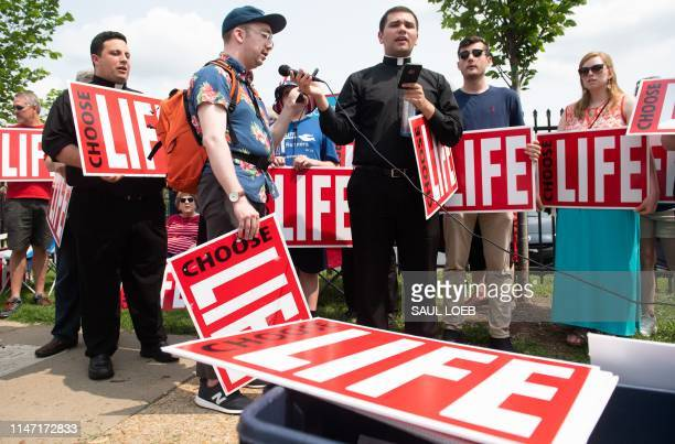 Antiabortion demonstrators hold a protest outside the Planned Parenthood Reproductive Health Services Center in St Louis Missouri May 31 the last...
