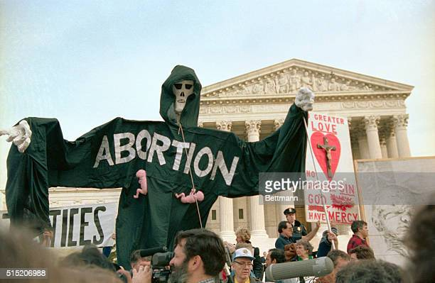 Antiabortion demonstrators mark the 13th anniversary of Roe v Wade which legalized abortion by marching on the Supreme Court