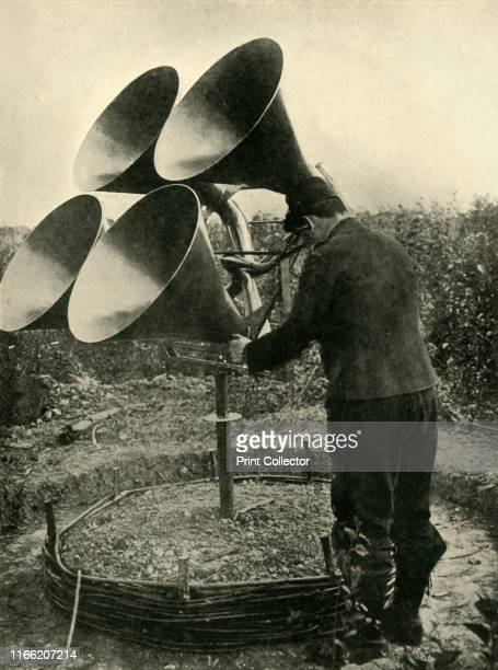 Antiaircraft device First World War 19141918 'The War against German Aircraft a Listening Post in the French antiaircraft Section These listening...