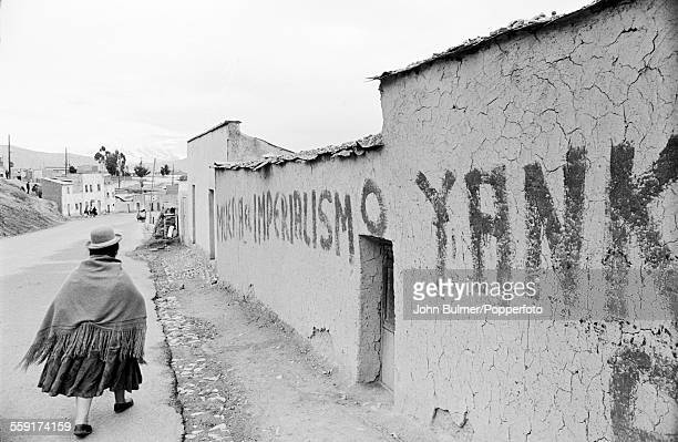 AntiAmerican graffiti in a street in La Paz Bolivia 1965 There was a lot of antiUS sentiment at the time It reads 'Muera el Imperialismo Yanqui'