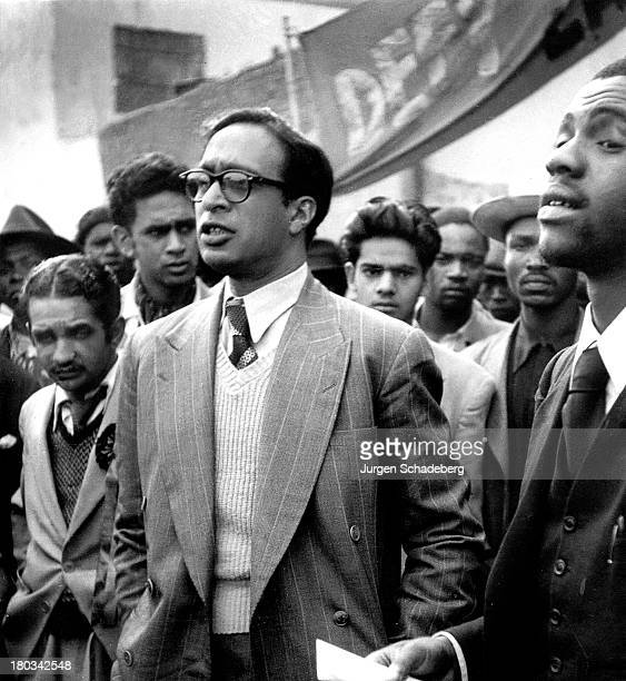 Antiapartheid activist Yusuf Cachalia at a demonstration in Red Square in the Johannesburg suburb of Fordsburg South Africa 6th April 1952 the 300th...