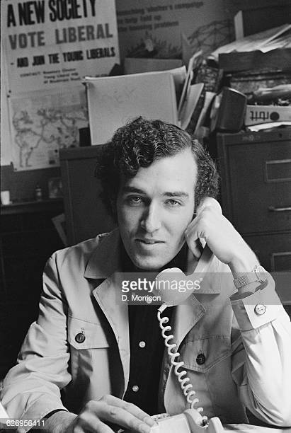Antiapartheid campaigner Peter Hain later a Labour Party politician UK July 1971