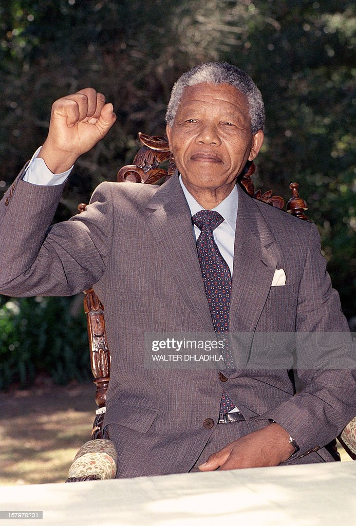 BIO-MANDELA-PORTRAIT-FIST : News Photo