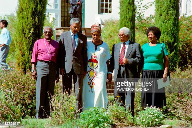 Antiapartheid leader and African National Congress member Nelson Mandela together with South African Anglican Archbishop Desmond Tutu Mandela's...