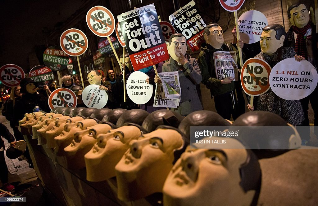 BRITAIN-AUSTERITY-PROTEST : News Photo