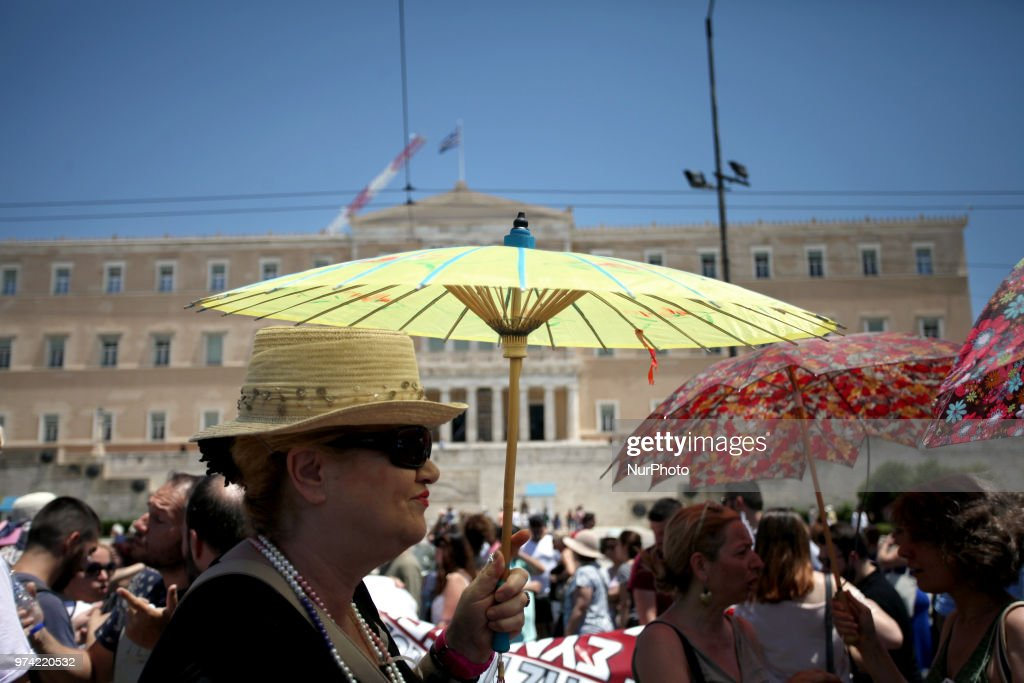 Anti-austerity rally in Athens, Greece on June 14, 2018 against the voting of the new multi bill.