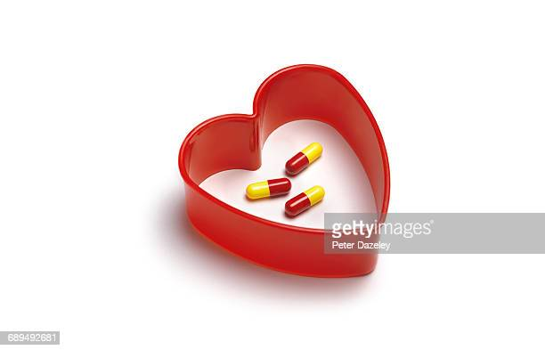 Antibiotics in heart shape