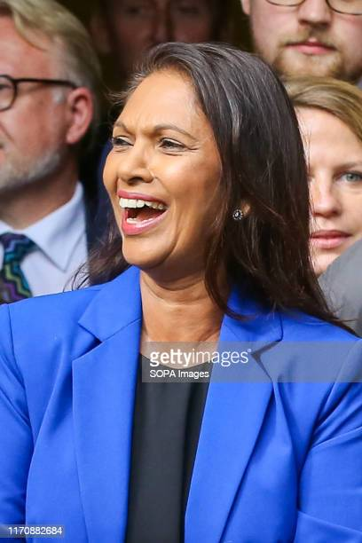 Anti-Brexit campaigner and businesswoman Gina Miller outside The Supreme Court on the day the court ruled that the British Prime Minister Boris...