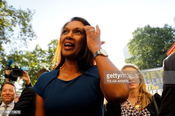 AntiBrexit campaigner Gina Miller arrives at the Supreme court in central London on the first day of the hearing into the decision by the government...
