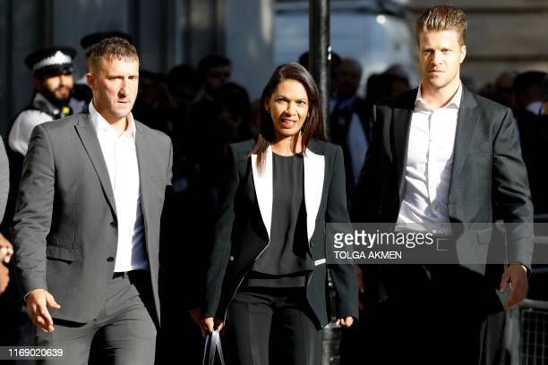 Anti-Brexit campaigner Gina Miller arrives at the Supreme Court in central London, on the second day of the hearing into the decision by the...
