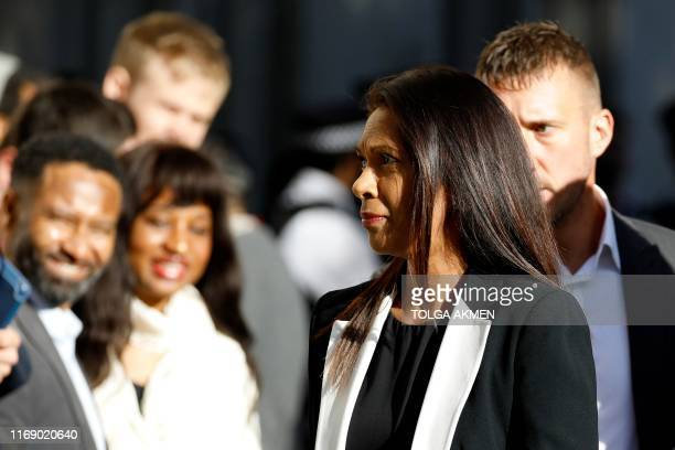 AntiBrexit campaigner Gina Miller arrives at the Supreme Court in central London on the second day of the hearing into the decision by the government...