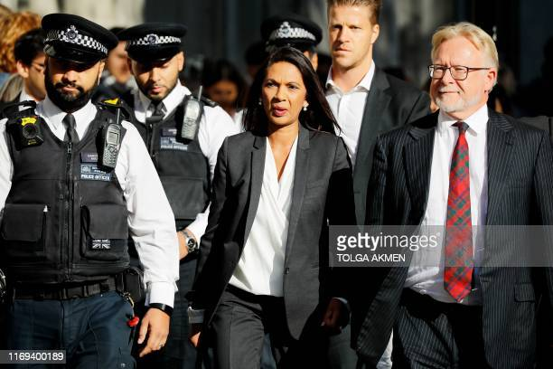 Anti-Brexit campaigner Gina Miller arrives at the Supreme court in central London on the third and final day of the hearing into the decision by the...