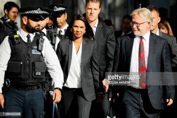 AntiBrexit campaigner Gina Miller arrives at the Supreme court in central London on the third and final day of the hearing into the decision by the...