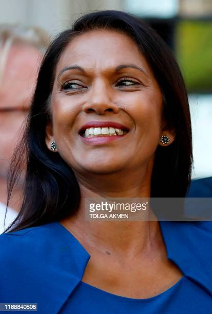 AntiBrexit campaigner Gina Miller leaves from the Supreme Court in central London follwowing the first day of the hearing into the decision by the...