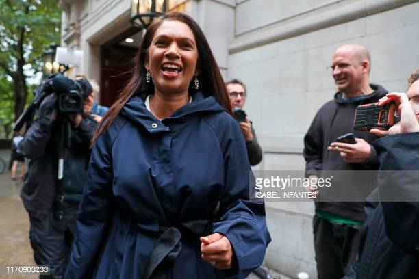 Anti-Brexit campaigner Gina Miller leaves the Millbank broadcast studios near the Houses of Parliament in central London on September 25, 2019. -...