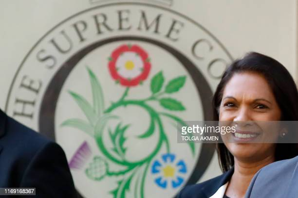 Anti-Brexit campaigner Gina Miller leaves the Supreme Court in central London, on the second day of the hearing into the decision by the government...