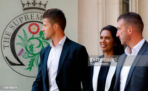 AntiBrexit campaigner Gina Miller leaves the Supreme Court in central London on the second day of the hearing into the decision by the government to...