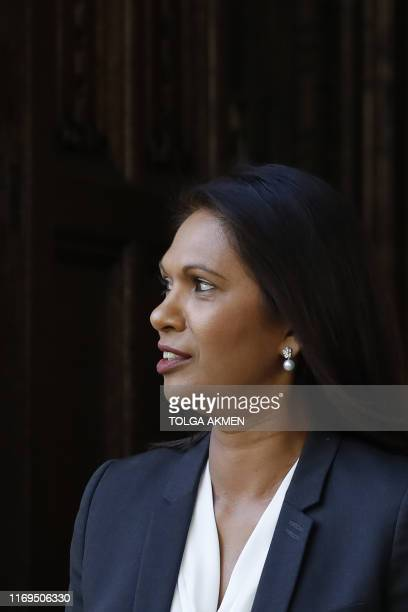 AntiBrexit campaigner Gina Miller leaves the Supreme court in central London on the third and final day of the hearing into the decision by the...