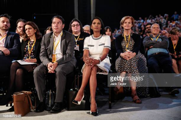 Anti-Brexit campaigner Gina Miller looks on from the audience before making a speech at the Liberal Democrat Party Conference at the Brighton Centre...