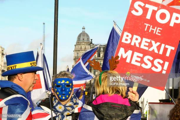AntiBrexit demonstrators are seen protesting outside the Houses of Parliament With only 100 days to go till Brexit the UK Government has set aside £2...