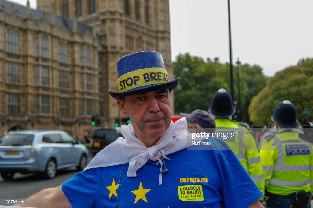 UK Unity Protests Theresa May's Soft Brexit : News Photo