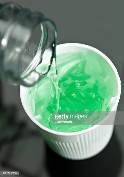 anticavity fluoride rinse - mouthwash stock pictures, royalty-free photos & images