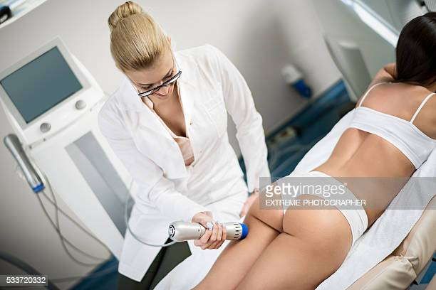 anticellulite treatment - beauty care occupation stock photos and pictures
