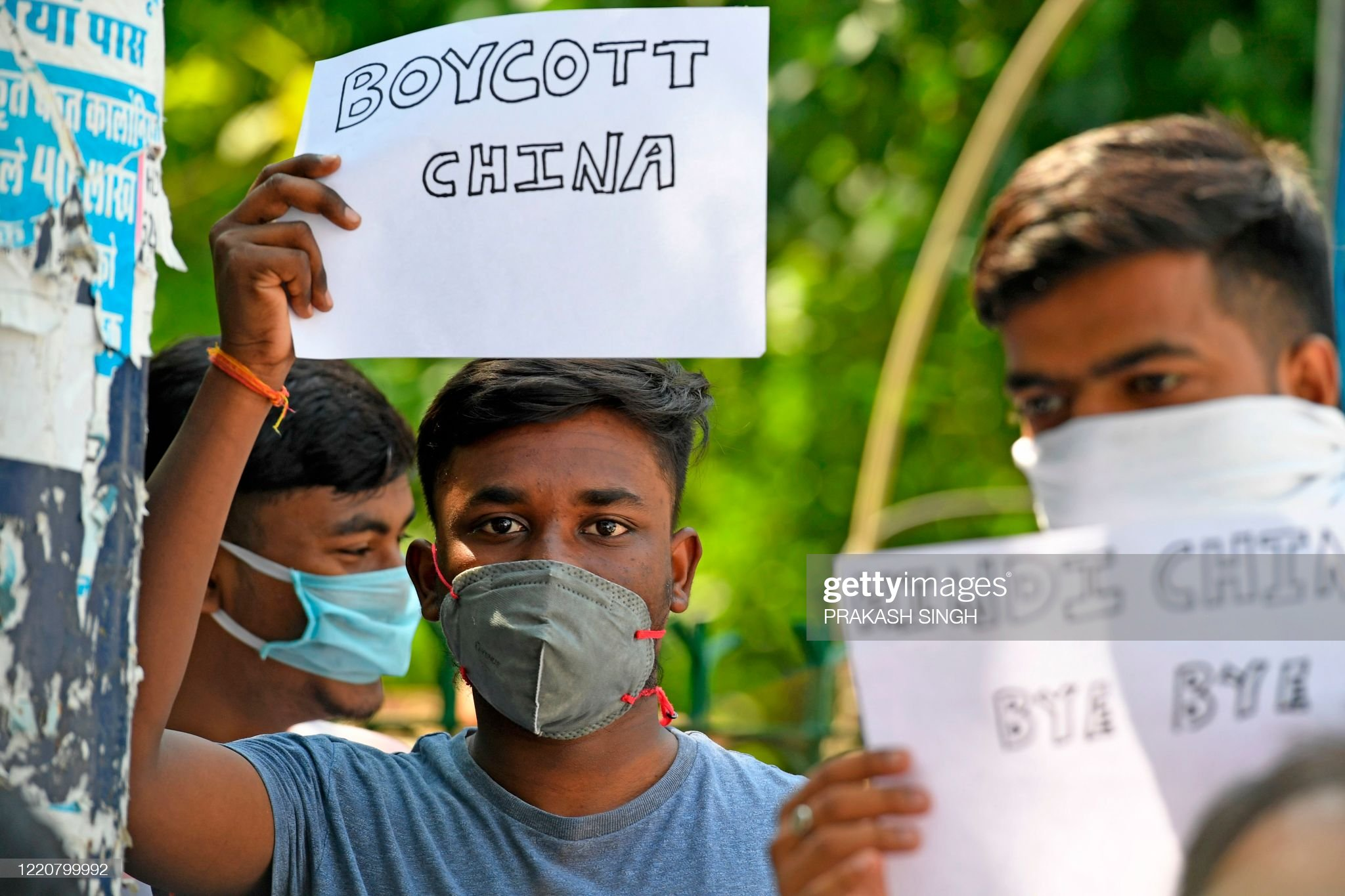 INDIA-CHINA-CONFLICT-PROTEST : Nachrichtenfoto