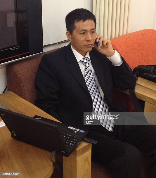 Anticorruption activist Zhu Ruifeng is seen during an interview in Beijing Zhu recently released a video showing a Chongqing official having sex with...