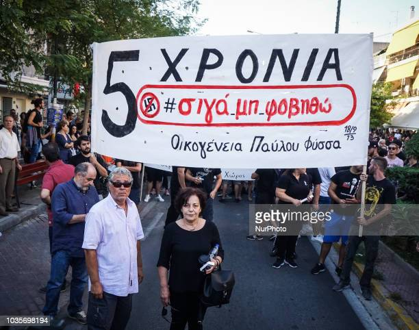Antifa group matched through the streets of Keratsini during the 5th Anniversary of the murder of Pavlos Fyssas September 2018 marks 5 years since...